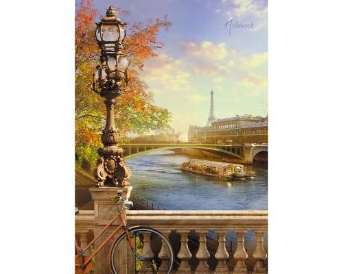 Книга для записей А4 128 листов Парижская набережная