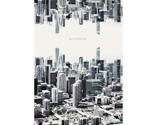 Книга для записей А4 100 листов Монохромный город