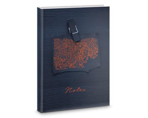 Книга для записей А4 160 листов Локация